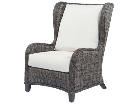 Ebel Belfort Wicker Wingback Lounge Chair