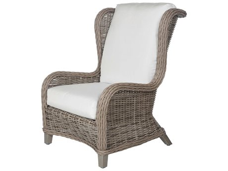 Ebel Bellevue Wicker Wingback Lounge Chair