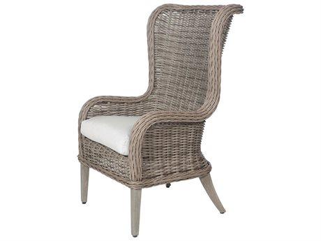 Ebel Bellevue Wicker Wingback Dining Arm Chair