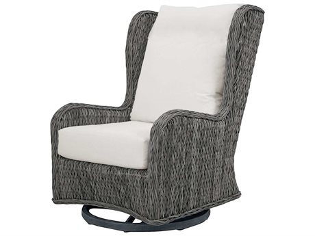 Ebel Belfort Wicker Swivel Glider Wingback Lounge Chair