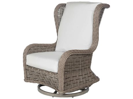 Ebel Bellevue Wicker Swivel Glider Wingback Lounge Chair