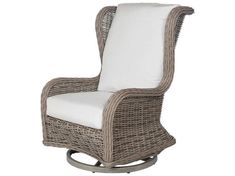 Fabulous Ebel Bellevue Wicker Swivel Glider Wingback Lounge Chair Beatyapartments Chair Design Images Beatyapartmentscom