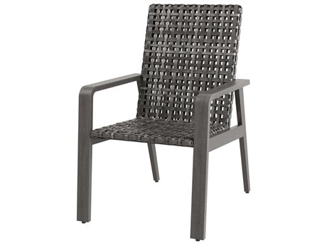 Ebel Antibes Aluminum Wicker Dining Arm Chair PatioLiving