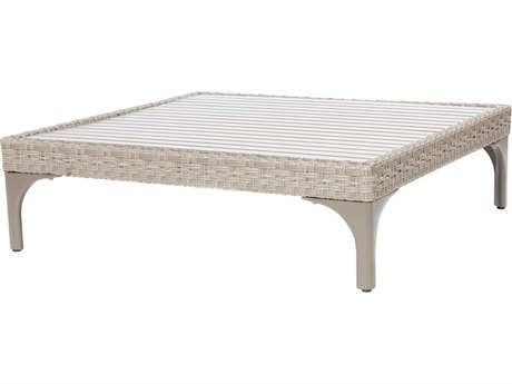 Ebel Closeout - LIMITED AVAILABLITY Calais Oyster Wicker 42'' Wide Square Chat Table