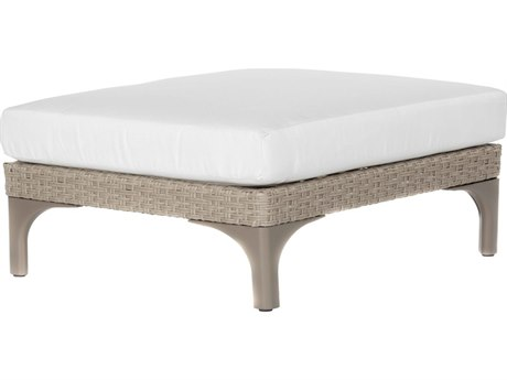 Ebel Closeout - LIMITED AVAILABLITY Calais Oyster Wicker Luxe Ottoman