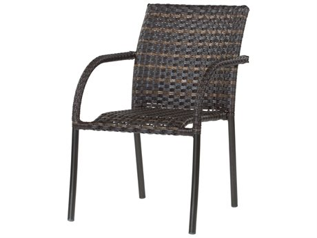 Ebel Tremont Wicker Bistro Dining Arm Chair