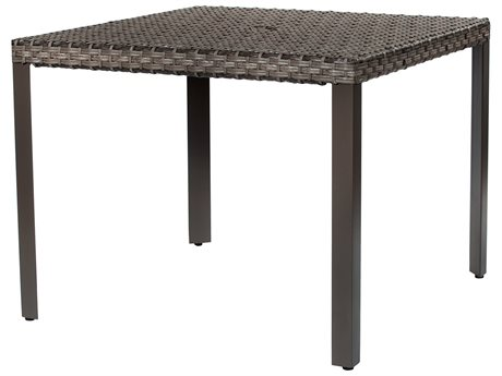 Ebel Tremont Wicker 36'' Wide Square Dining Table With Umbrella Hole