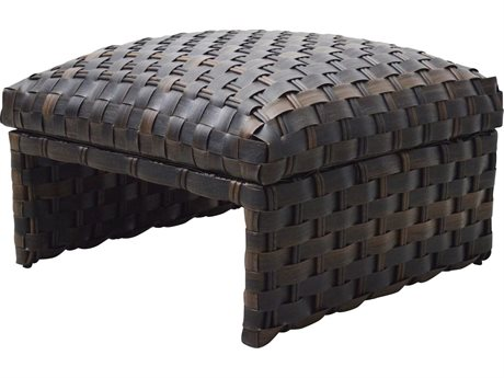 Ebel Allegre Wicker Padded Ottoman