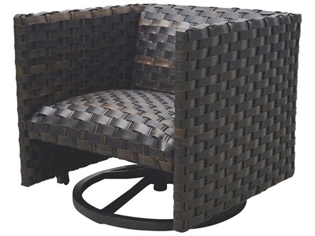 Ebel Allegre Wicker Padded Swivel Glider Lounge Chair