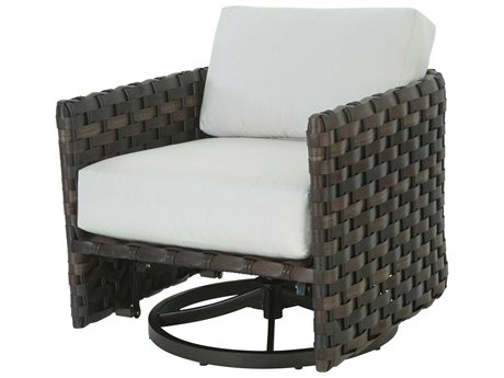 Ebel Allegre Wicker Swivel Glider Barrel Lounge Chair