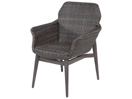 Ebel Lasalle Wicker Padded Dining Arm Chair