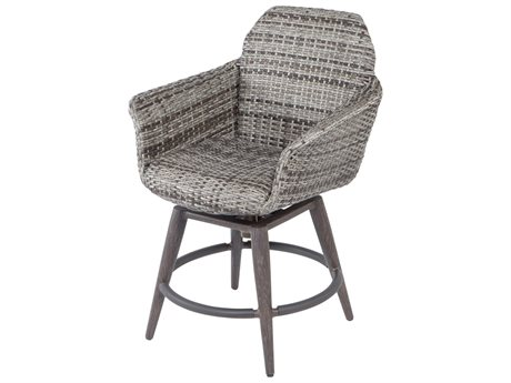 Ebel Lasalle Wicker Padded Swivel Counter Height Stool (Sold in 2)
