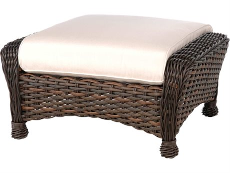 Ebel Dreux Wicker Ottoman PatioLiving