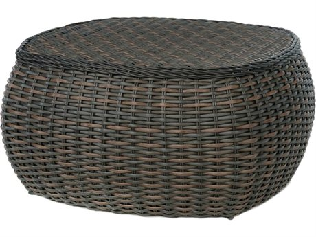 Ebel Dreux Wicker 43'' Wide Round Chat Table PatioLiving