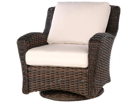 Ebel Dreux Wicker Swivel Glider Lounge Chair