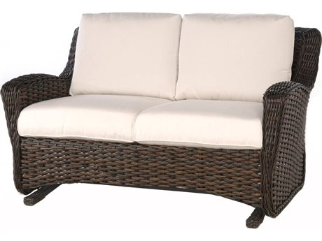 Ebel Dreux Wicker Glider Loveseat PatioLiving