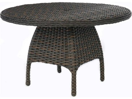 Ebel Dreux Wicker Round Dining Table Base