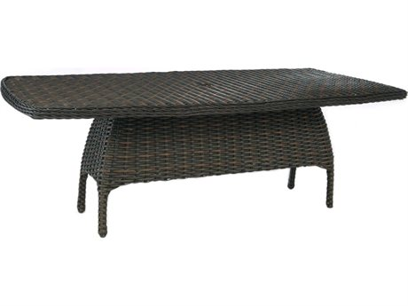 Ebel Dreux Wicker Rectangular Dining Table Base