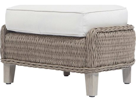 Ebel Geneva Wicker Ottoman PatioLiving