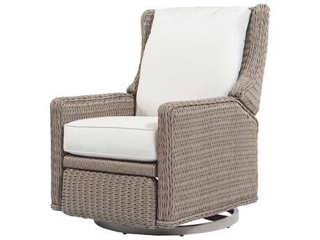 Ebel Geneva Wicker Swivel Recliner Lounge Chair