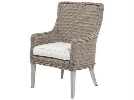 Ebel Geneva Wicker Dining Arm Chair