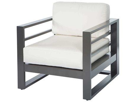 Ebel Palermo Cushion Graphite Aluminum Graphite Lounge Chair PatioLiving