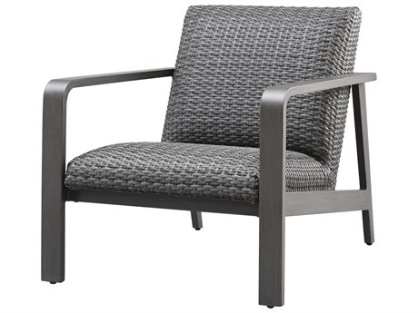 Ebel Canton Padded Wicker Aluminum Lounge Chair PatioLiving