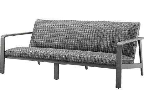 Ebel Canton Padded Wicker Aluminum Sofa PatioLiving