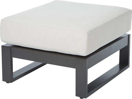 Ebel Palermo Cushion Aluminum Graphite Ottoman PatioLiving