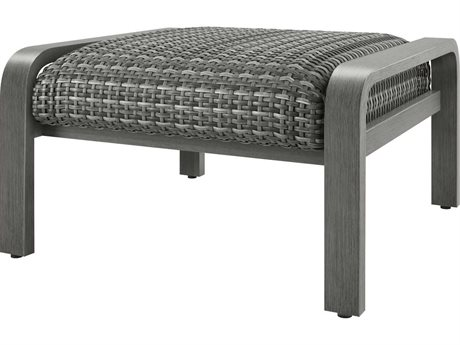 Ebel Canton Padded Wicker Aluminum Ottoman PatioLiving