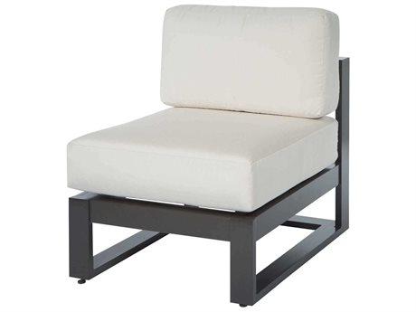 Ebel Palermo Cushion Aluminum Graphite Modular Lounge Chair PatioLiving