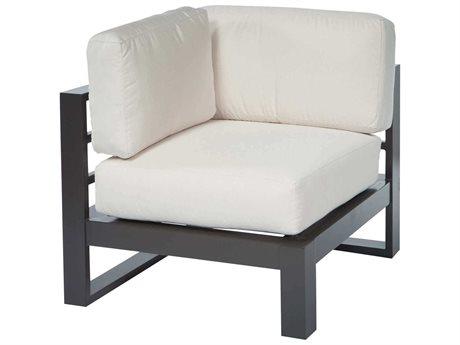 Ebel Palermo Cushion Aluminum Graphite Corner Lounge Chair PatioLiving