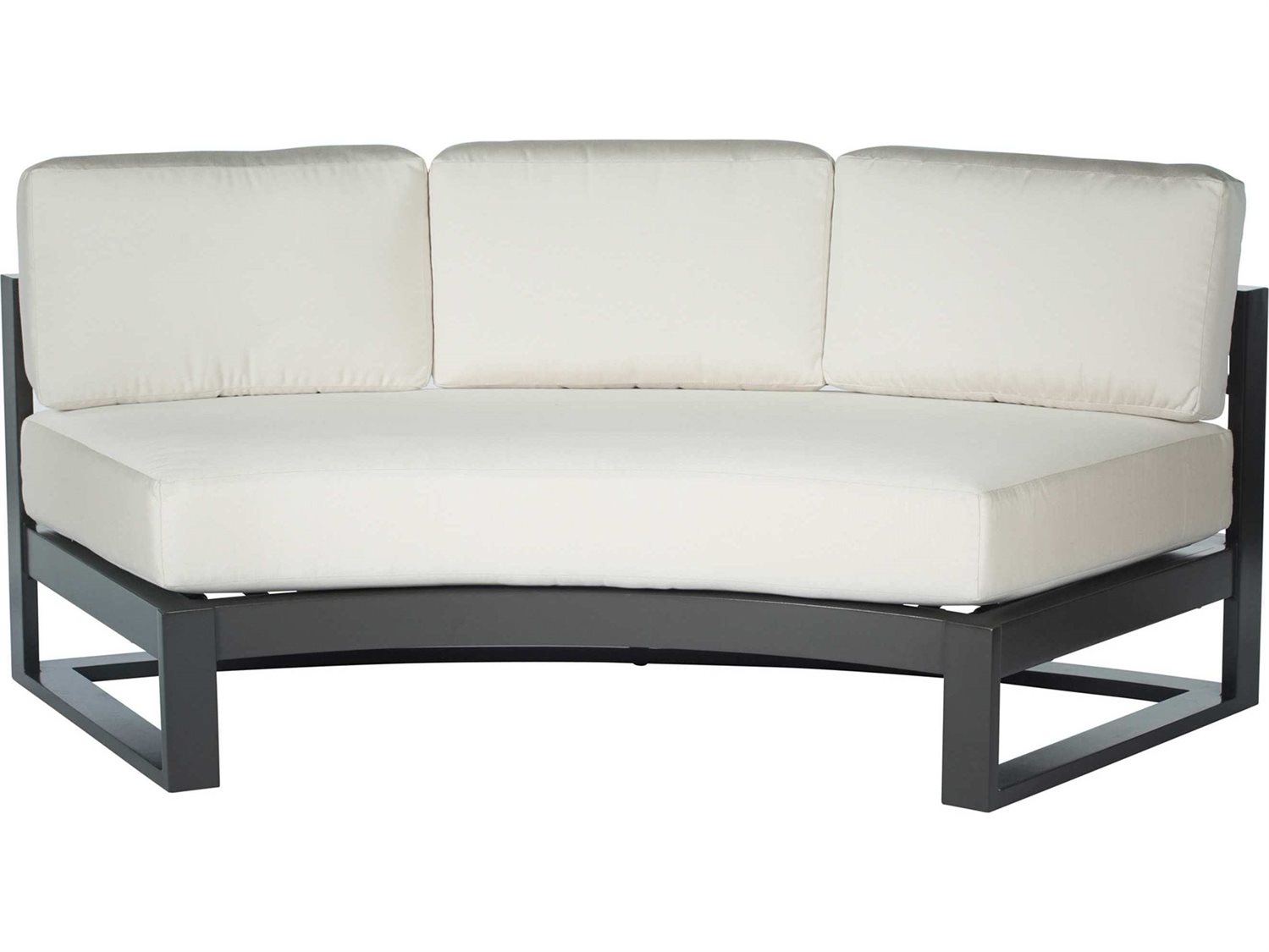 Ebel Palermo Aluminum Fire Pit Sectional Lounge Set