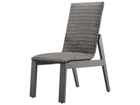 Ebel Canton Padded Wicker Aluminum Dining Side Chair PatioLiving