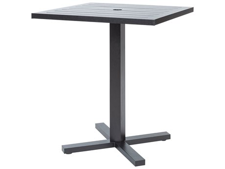 Ebel Palermo Aluminum 36'' Wide Square Counter Height Table with Umbrella Hole