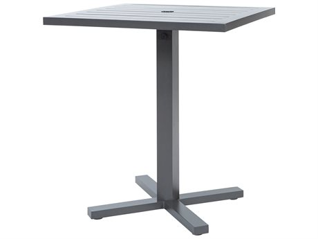 Ebel Palermo Aluminum 36'' Wide Square Bar Height Table with Umbrella Hole