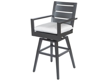 Ebel Palermo Aluminum Bar Height Swivel Stool (Sold in 2) PatioLiving