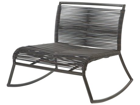 Ebel Monaco Wicker Armless Rocker Lounge Chair