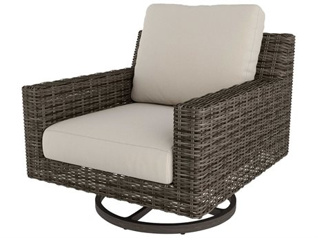 Ebel Remy Wicker Swivel Rocker Lounge Chair PatioLiving