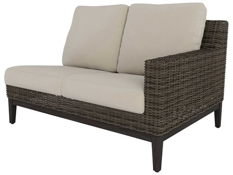 Ebel Remy Wicker Left Arm Loveseat PatioLiving
