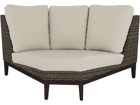 Ebel Remy Wicker 90° Curved Corner Loveseat PatioLiving