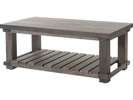 Ebel Lago Aluminum 46''W x 23''D Rectangular Coffee Table