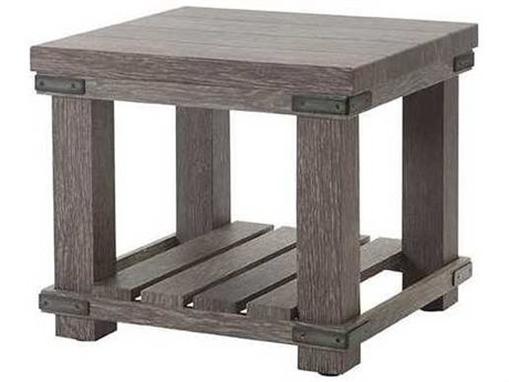 Ebel Lago Aluminum 22'' Wide Square End Table