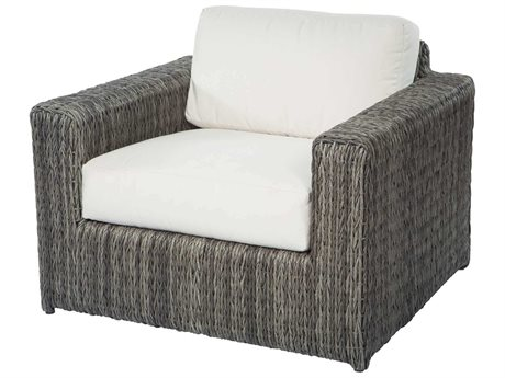 Ebel Orsay Cushion Wicker Smoke Lounge Chair PatioLiving