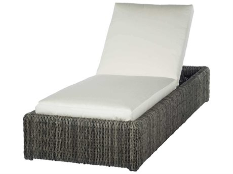 Ebel Orsay Cushion Wicker Smoke Chaise Lounge PatioLiving