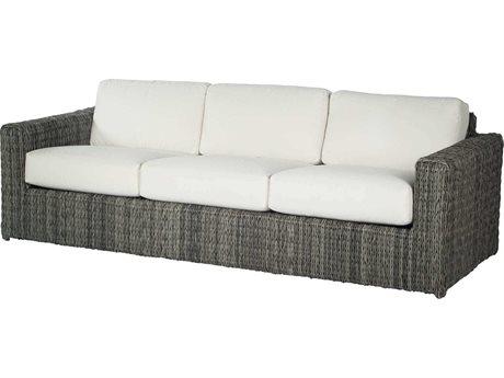 Ebel Orsay Cushion Wicker Smoke Sofa PatioLiving