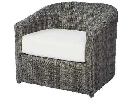 Ebel Orsay Cushion Wicker Smoke Barrel Occasional Lounge Chair PatioLiving