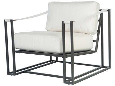 Ebel Capri Aluminum Lounge Chair with Fabric Arms