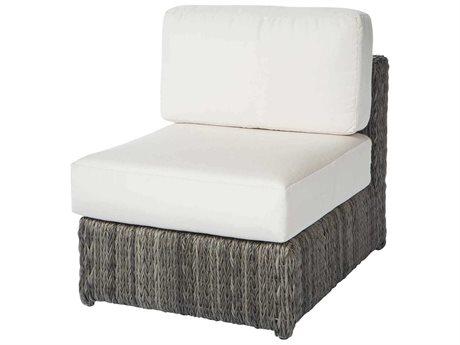 Ebel Orsay Cushion Wicker Smoke Modular Lounge Chair PatioLiving