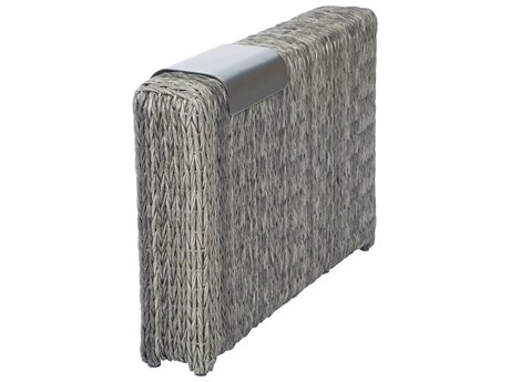 Ebel Orsay Wicker Smoke Armrest Section with Removable Aluminum Tray PatioLiving